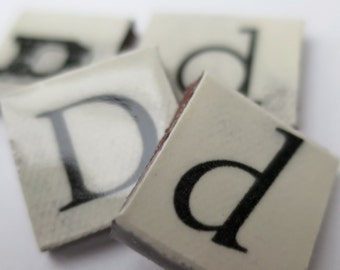 D Ceramic lettering, scrabble sized alphabet tiles hand made in the UK
