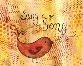Singing Bird II 8x10 Art Print