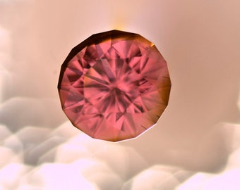 Pink Tourmaline 6.9mm round 1.36 carats Grade AA