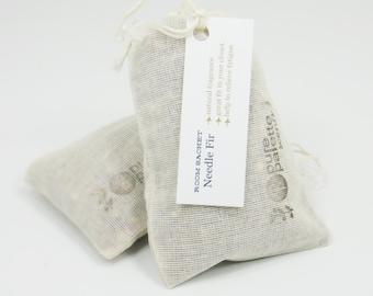 Natural Pine Needle Fir Sachet Room Freshener in U.S.A Muslin Bag