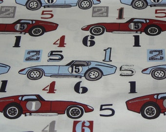 Speedster in White by Riley Blake Designs - 1 Yard Cotton Fabric
