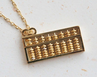 Maths Lover - Abacus Necklace with movable beads (N368)