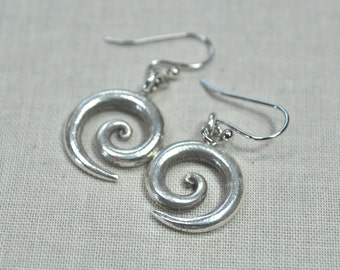 Spiral Hill Tribe Silver Earrings