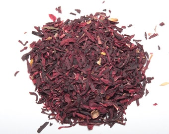 HIBISCUS TEA (Organic loose leaf hibiscus tea) Larger Sizes