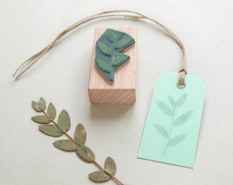Botanical rubber Stamp: Coral bead plant
