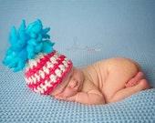 Ready to Ship Crochet Newborn Baby Dr Seuss Beanie, Photo Prop, Photography Prop, Shower Gift,  Merino Wool Hat