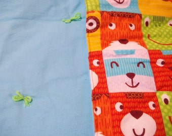 Handmade Baby Quilt, soft ,cuddly, warm