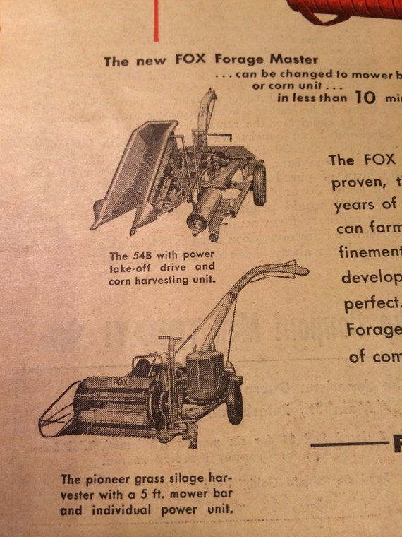Man Cave Store Appleton Wi : Fox forage master ad river tractor company