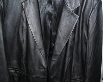 DENIM & CO. BLACK soft leather women's jacket