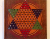 Chinese Checkers Wooden Board c1930s