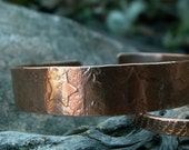 Oh Starry Nite -:- Copper star embossed cuff. Bangle. Bracelet. Rustic. Modern. Boho. Antiqued finish.
