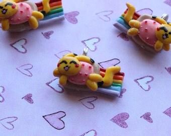 Kawaii Cute Nyan Pikachu Polymer Clay Charm