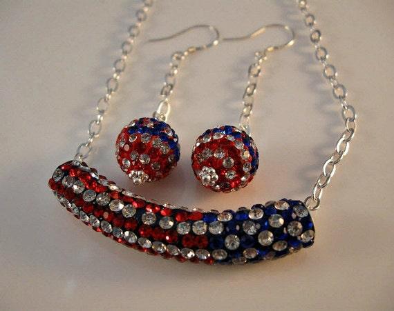 patriotic jewelry set patriotic jewelry american by jjewelsatl