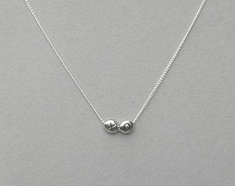 Hug and Kiss Beaded Necklace