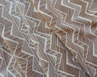 Quilting Fabric Brown and White Chevron Mocha Matilda by Timeless Treasures C1512-MOCH