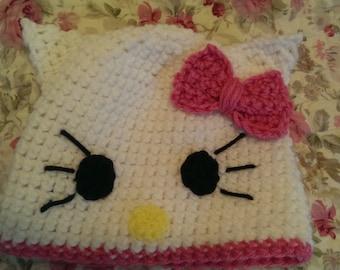 Hello Kitty Crocheted Hat!