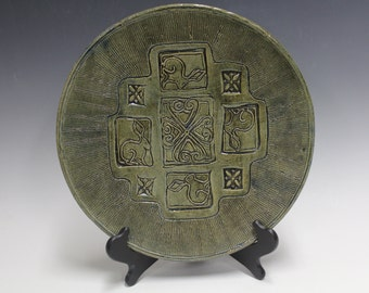 Stoneware Rabbit Platter