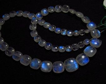 AAAA - High Quality So Gorgeous - Rainbow MOONSTONE - Smooth Cuhion shape Briolett Blue Fire size - 5 - 11.5 mm - 51 pcs