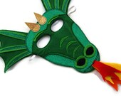 Dragon Mask, Kids Mask, Childs Mask, Childrens Mask, Dress Up, Children's Halloween Costume, Adult Mask