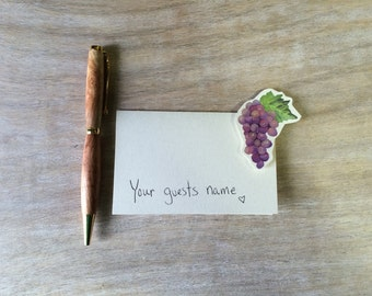 Grapes - Wedding Place Card - Gift Card - Table Number Card - Menu Card -weddings events