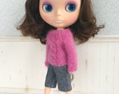 Fucsia Sweater for Blythe Doll