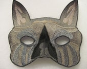 French Bulldog Mask in dark brindle colors