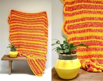 Crocheted Afghan  //  Throw Blanket  //  THE PANDER