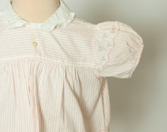 Vintage 1960s baby girl's pinstripe blouse