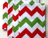 Custom Listing for Leticia - Red & Green Napkins - Chevron - Set of 8  - 18 Inches Square