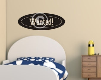 Vinyl wall decal wanted decal   wall decor   B35