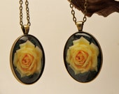 Special listing for Jami Burns   2 Pendants Bright Yellow Rose P-212