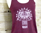 Gypsy Warrior tank, Womens shirt, tank top, screen printed clothing, graphic tee,