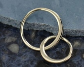 Sterling Silver Small Two Circle Link  - C2876, Links, Connectors, Findings, Infinity Links