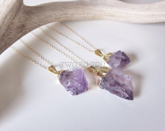 Ariel - Gold Plated Amethyst Point - 14kt Gold Filled Necklace - Insurance included in ALL domestic shipping!
