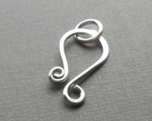 Large Sterling Silver Hook Clasp, Handmade Silver Findings