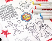 Save the Day Heroes Cute Digital Line Art Stamps, Black and White Line Art, Digital Stamps, Monster Face, Super Hero Stamps