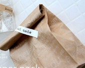 30 French Letters Kraft Paper Bags - M size (6 x 10.6in)