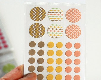 Circle Deco Masking Stickers - 04 Street (3 x 4.3in) 4 sheets