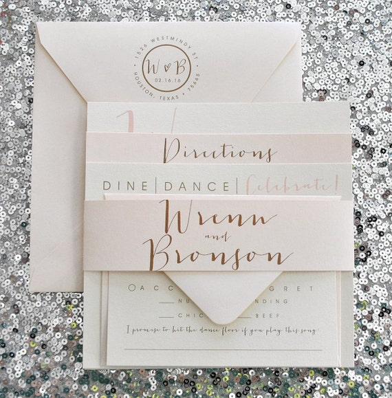 Square Bronson Wedding Invitation Suite With Belly By Lvandy27