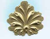 Decorative Neo Victorian Leaf Brass Metal Stamping