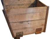 Late 1800s Wooden Coal Cart