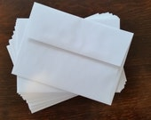 A7 White Envelopes -- Perfect for 5 x 7 Invitations, Cards or Photos