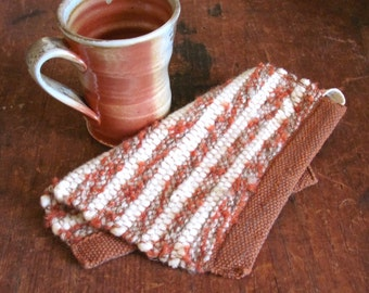 Modern Rustic Country Western Ranch Wool Pot Holder Campfire Cook Camp Stove Mat, Mountain Cabin Kitchen Farmhouse Decor Woven Oven Hot Pad