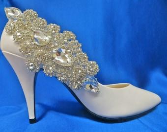 Bridal Shoe Clips, Crystal  Shoe Clips, Rhinestone  Shoe Clips, Bridal Wedding Shoes, Bridal Shoe Accessory, Wedding Shoe Accessory