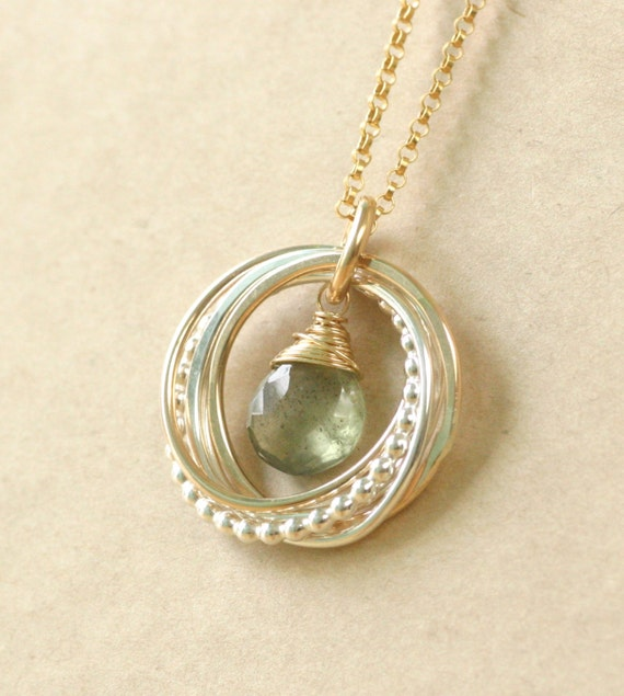 50th Birthday Gift For Her Aquamarine Necklace By