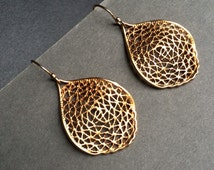 Gold Filligree Earrings