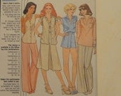 1978 Blouse, Vest, Skirt, Wide Leg Pants, High Waisted Shorts- Vintage 70s UNCUT McCall's Sewing Pattern 6031- Miss Sizes 12-16 Bust 34-38