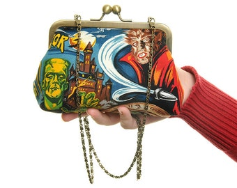 Horror Movie Evening Bag and Clutch In One