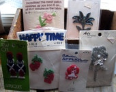 Lot of 6 Vintage Applique Designs - Tin Soldiers-Strawberries-Roses-Puppy Dog-Flowers