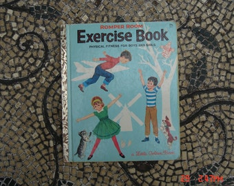 Romper Room Exercise Book - a Little Golden book  #527 - 29 cents 1st  A Edition 1964 - Great Condition